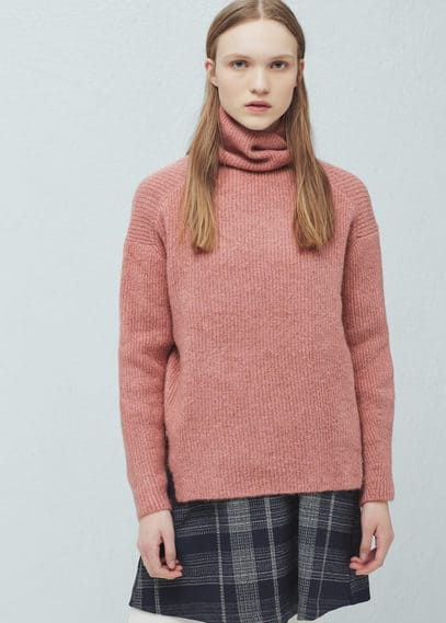 Stand-collar sweater | MANGO