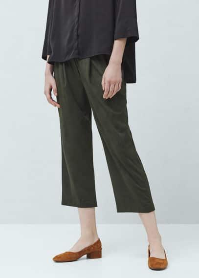 Pantalón crop textura | MANGO