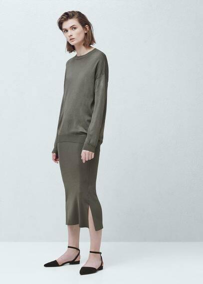 Ribbed edges sweater   MANGO