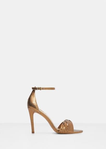 Sandales lanières croisées | VIOLETA BY MANGO