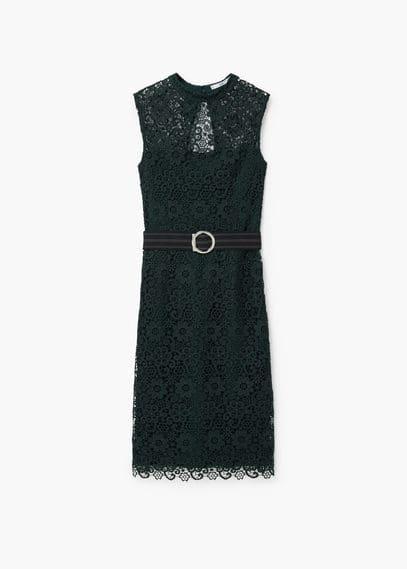 Guipure dress | MANGO