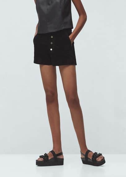 Leather shorts | MANGO