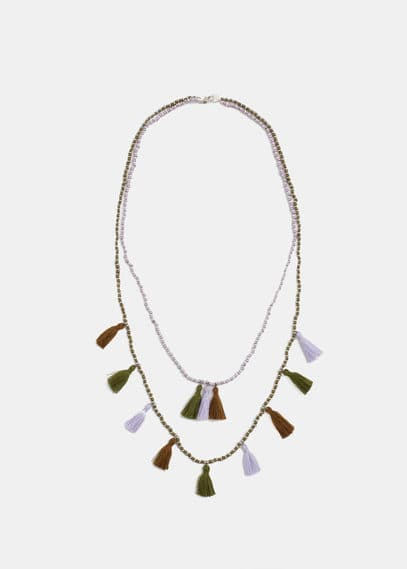 Tassel bead necklace | VIOLETA BY MANGO