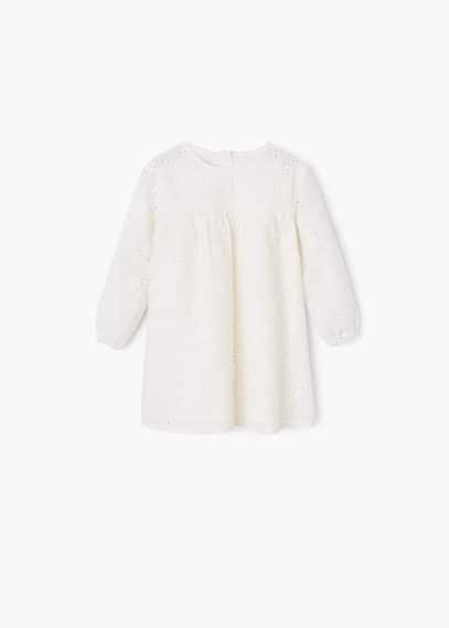 Vestito traforato cotone | MANGO KIDS