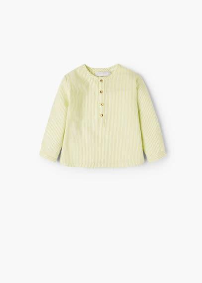 Camicia cotone righe | MANGO KIDS