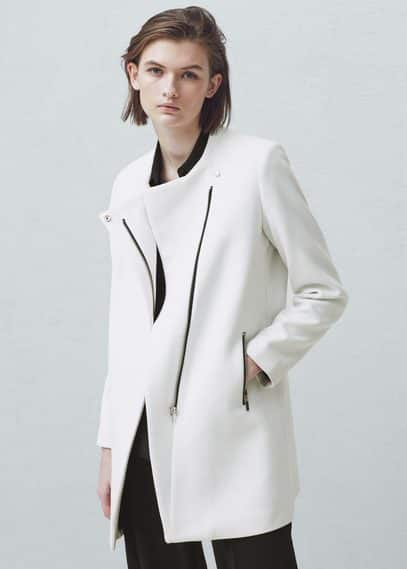 Manteau droit poches | MANGO