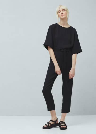 Cut-out back jumpsuit | MANGO