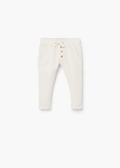 Contrast trims trousers   MANGO KIDS