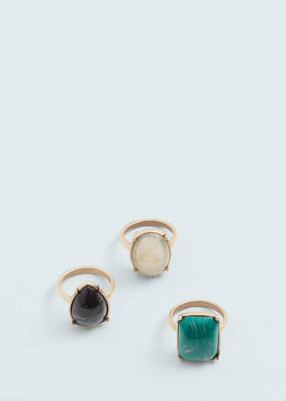 Metal ring set | MANGO