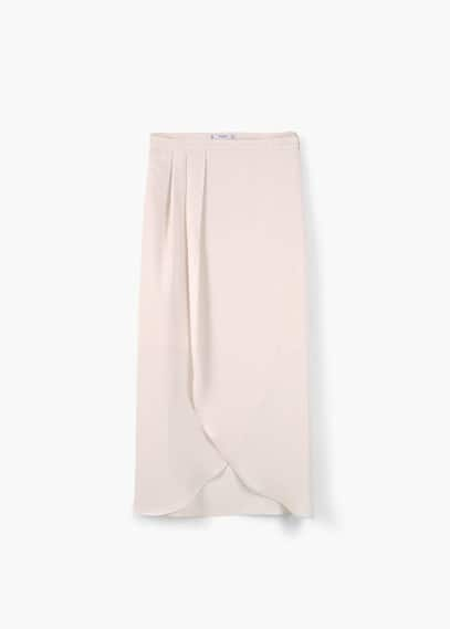 Falda midi abertura | MANGO