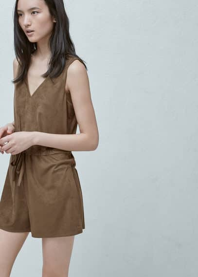 MANGO Short Cord Jumpsuit