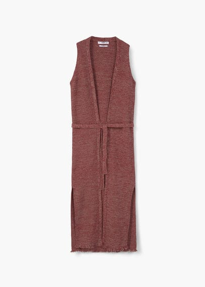 Knitted cotton gilet | MANGO
