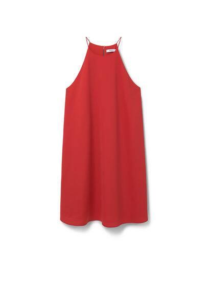 Robe Emmanchures Américaines - Tissu fluide, emmanchures américaines, fermeture en goutte à l'arrière, doublure.