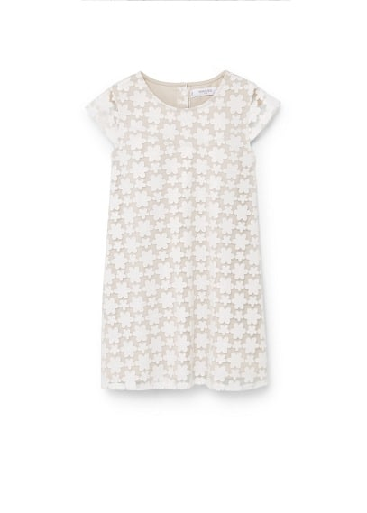Robe À Motifs Floraux - Tissu de coton mélangé, motifs floraux, col rond, manches courtes, fermeture boutonnée à l'arrière, doublure.