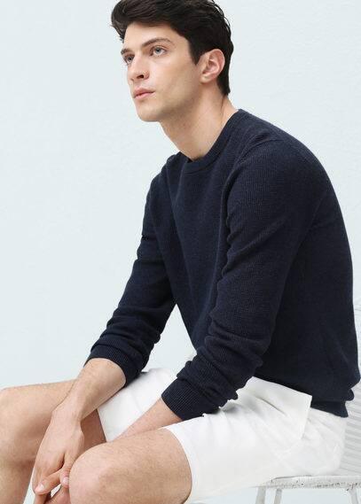 Baumwoll-pullover mit kaschmir | MANGO MAN