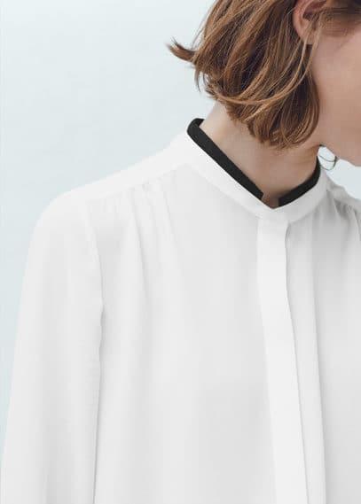 Lace appliqué blouse | MANGO