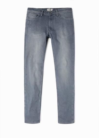 Jeans tim slim-fit gris   MANGO MAN