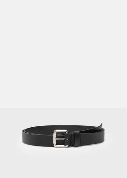 Pebbled leather belt | VIOLETA BY MANGO
