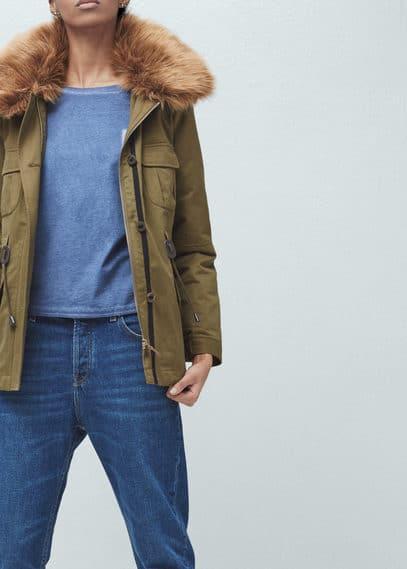 Veste en coton poches | MANGO