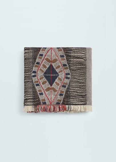 提花围巾 | MANGO
