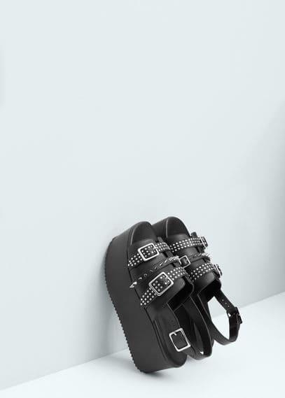 Platform studded sandals | MANGO