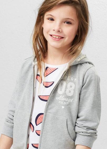 Hoodie cotton sweatshirt | MANGO KIDS