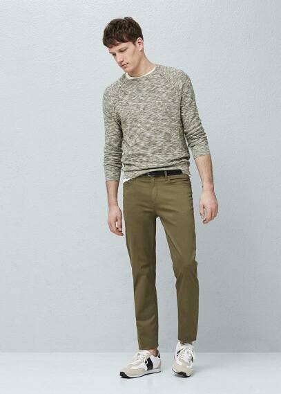 Pantalon twill de coton | MANGO MAN