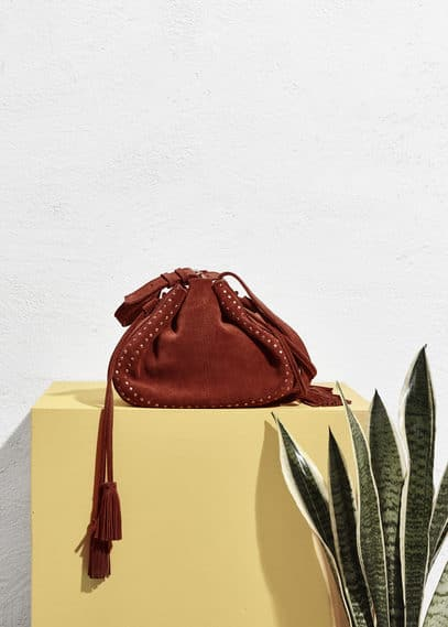 Suede bucket bag | VIOLETA BY MANGO