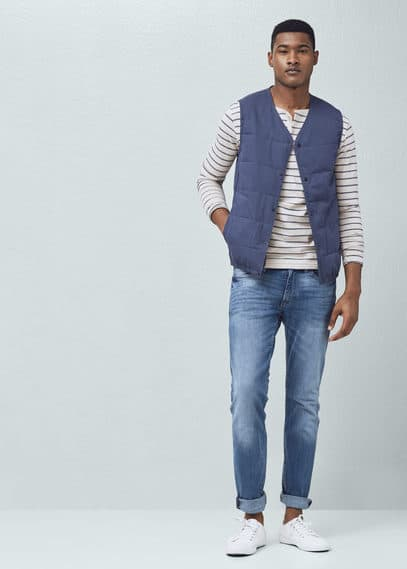 Cotton quilted gilet | MANGO MAN