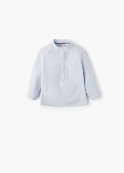 Camicia cotone quadri | MANGO KIDS