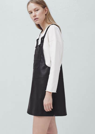 Pocket pinafore dress | MANGO