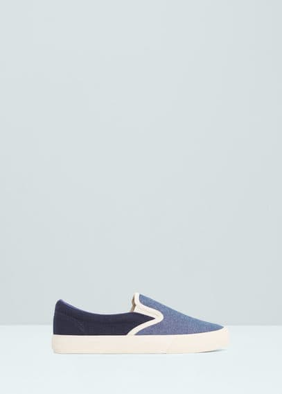 Elastic panels sneakers | MANGO MAN