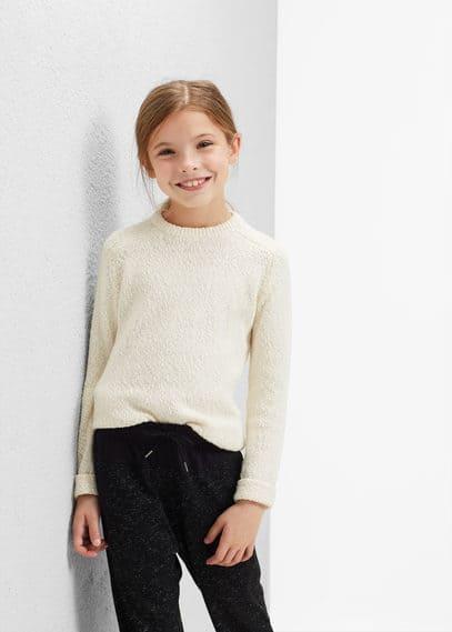 Texturált pamut pulóver   MANGO