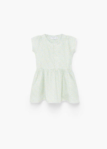 Vestito cotone stampato | MANGO KIDS