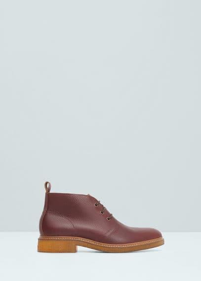 Desert boots cuir | MANGO MAN