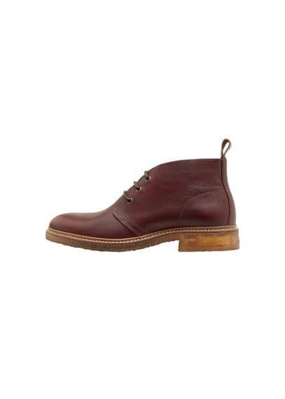 Desert Boots Cuir - Lacets, semelle en caoutchouc.