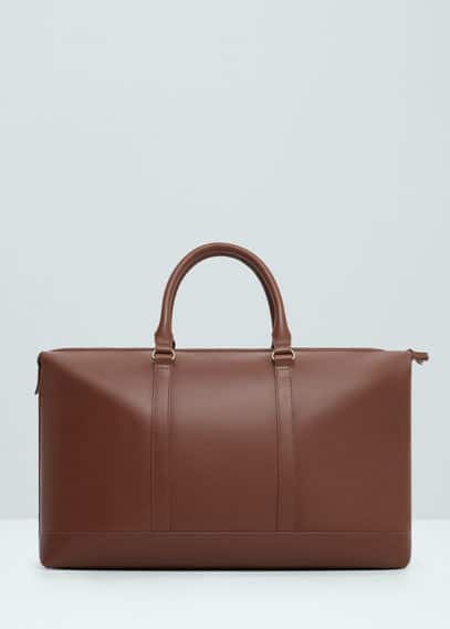 Leather weekend bag | MANGO MAN