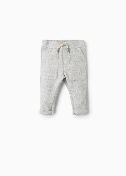 Textured baggy trousers   MANGO KIDS