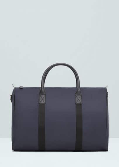 Nylon weekend tote bag | MANGO MAN