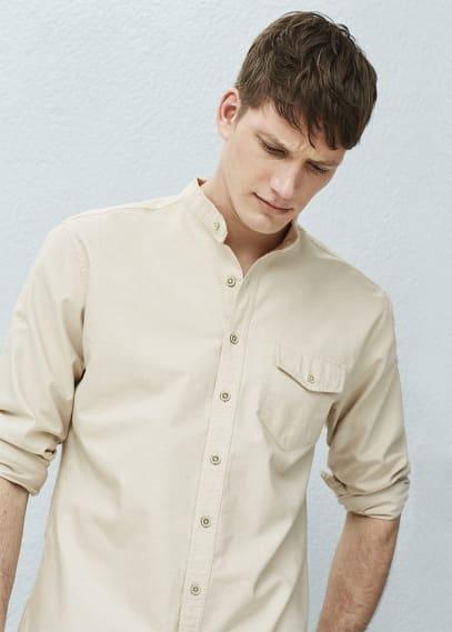 Regular-fit overhemd met maokraag   MANGO MAN