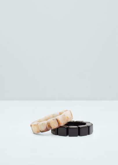 Pack bracelets élastiques | MANGO