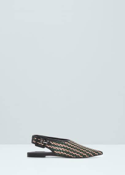 Örgü desen ayakkabı | MANGO