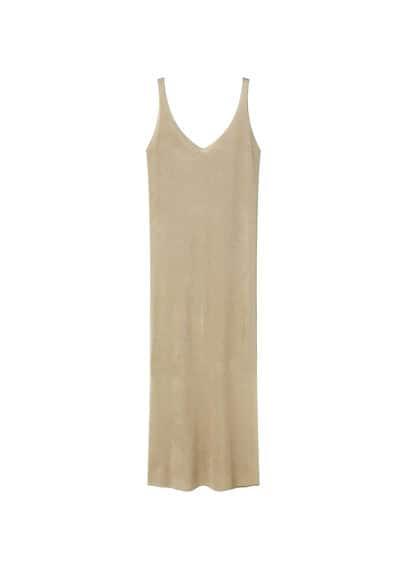 Premium - Robe Dos Ouvert - Ligne Premium, Tissu texturé, Col en V, Bretelles larges, Ouverture sur le devant