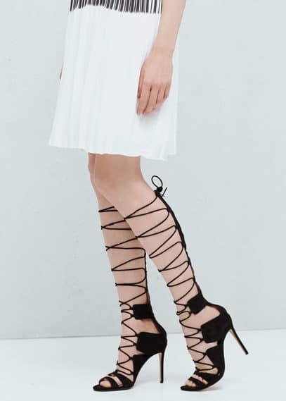 Sandalia tiras cordón | MANGO