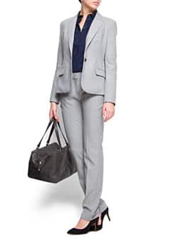 Straight-leg suit trousers