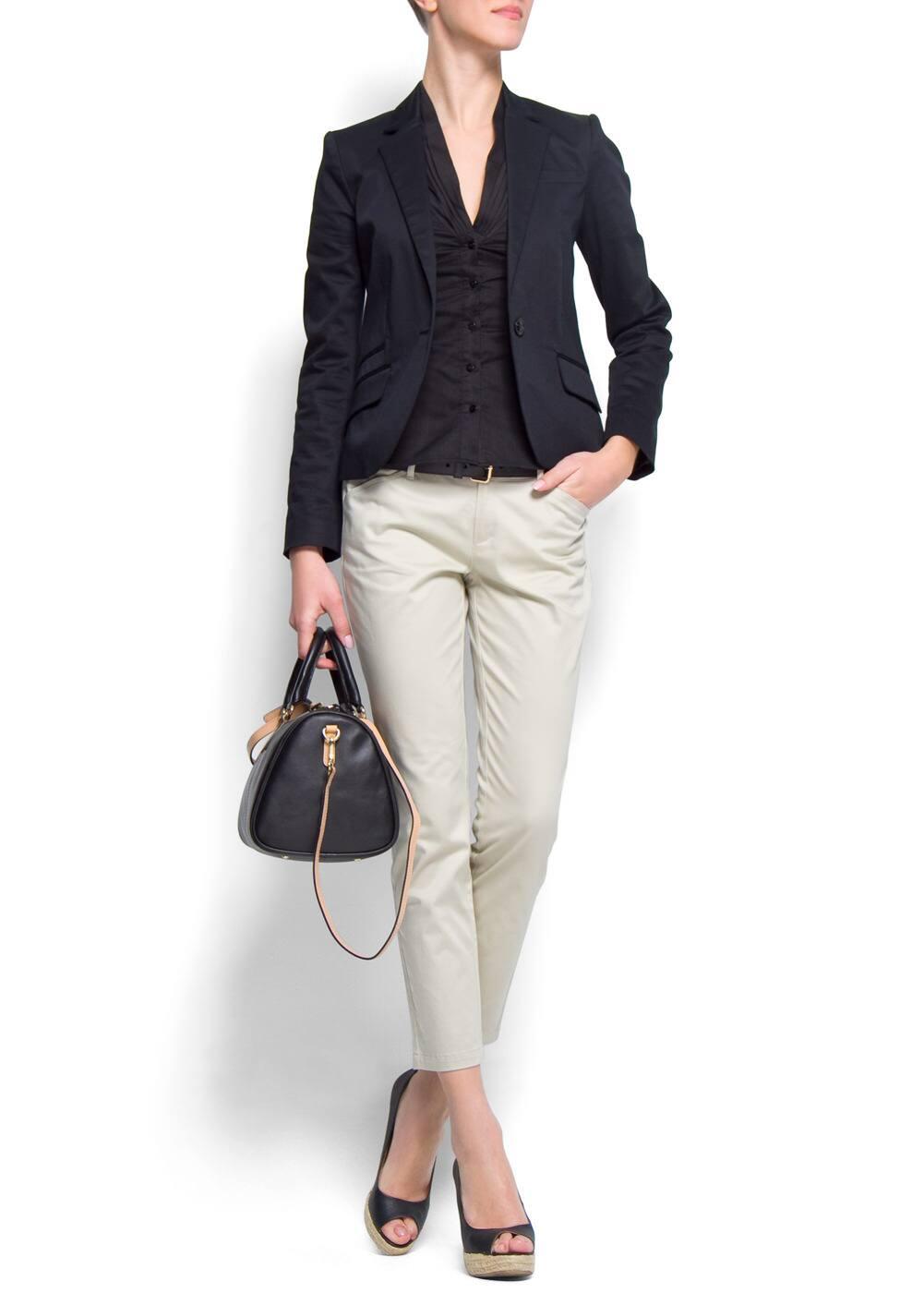 Slim-fit cotton blazer | MANGO
