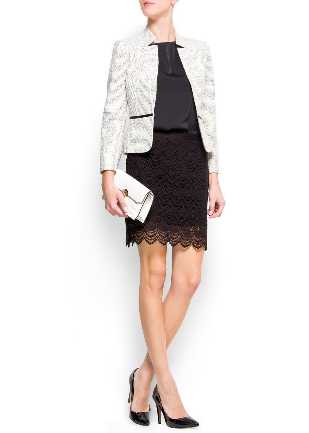 Shiny yarn blazer | MANGO