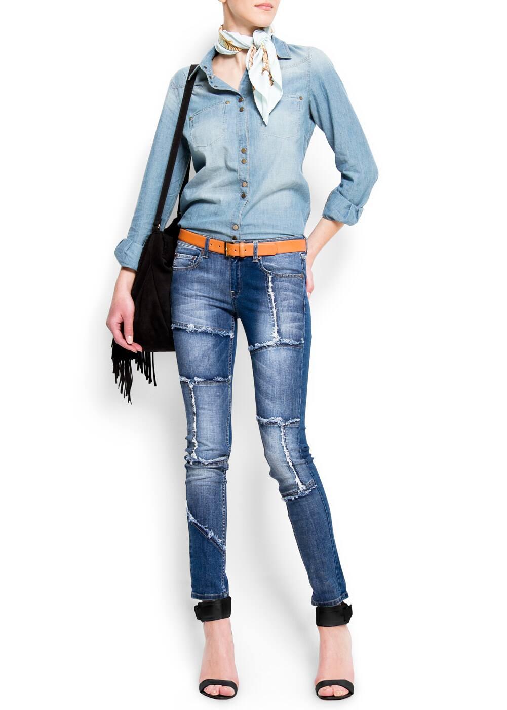 Patchwork jeans | MANGO