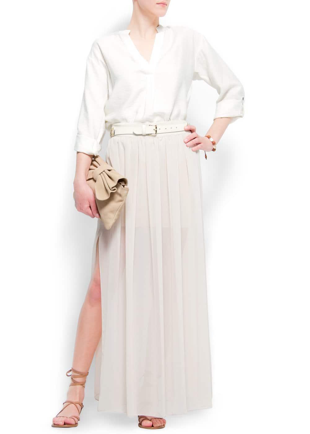 Double split long skirt | MANGO