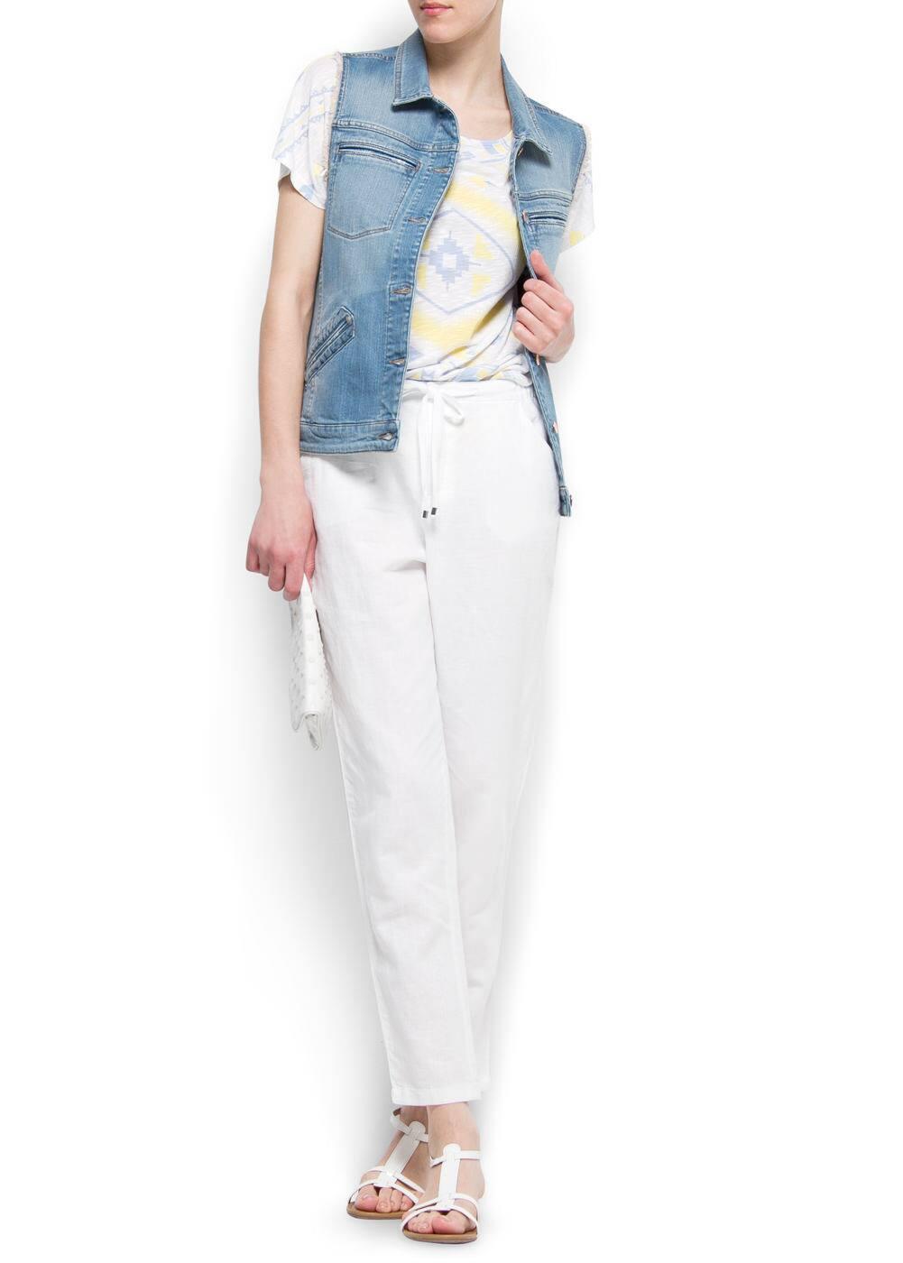 Loose-fit linen trousers | MANGO